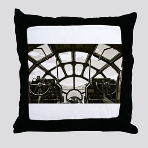 B-29 Cockpit Throw Pillow