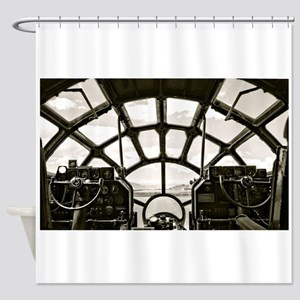 B-29 Cockpit Shower Curtain