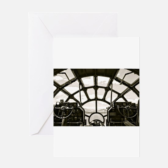 B-29 Cockpit Greeting Cards
