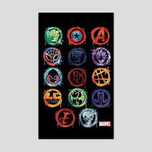 Marvel Icon Favorites Splatter Sticker (Rectangle)