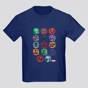Marvel Icon Favorites Splatter Kids Dark T-Shirt