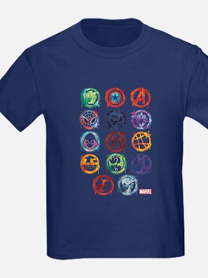 Marvel Icon Favorites Splatter T