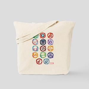 Marvel Icon Favorites Splatter Tote Bag