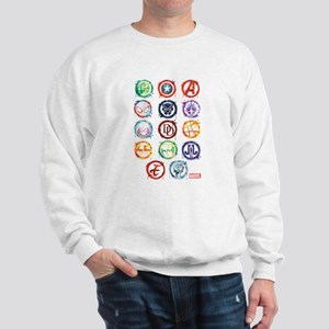 Marvel Icon Favorites Splatter Sweatshirt