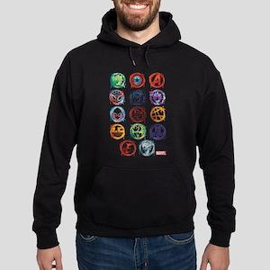 Marvel Icon Favorites Splatter Hoodie (dark)