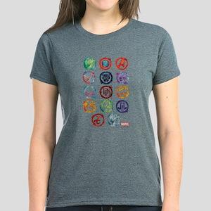Marvel Icon Favorites Splatte Women's Dark T-Shirt