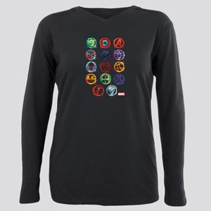 Marvel Icon Favorites Sp Plus Size Long Sleeve Tee