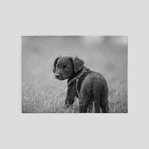 Cute Puppy Dog 5'x7'Area Rug