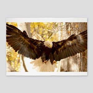Bald Eagle in Flight 5'x7'Area Rug