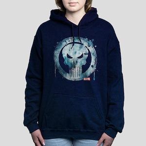 Punisher Grunge Icon Women's Hooded Sweatshirt