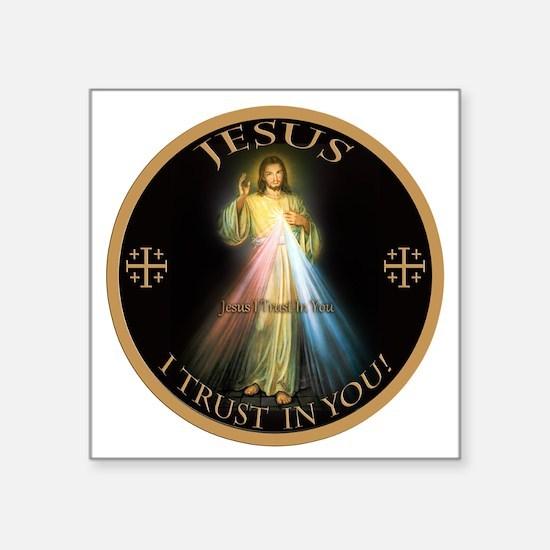 "Cute Catholic Square Sticker 3"" x 3"""