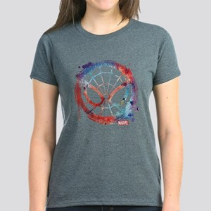 Spider-Man Icon Splatter Women's Dark T-Shirt