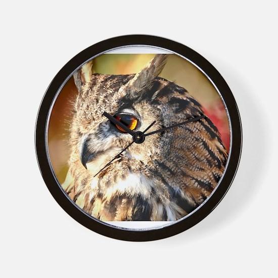 Eurasian Eagle Owl Wall Clock