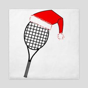Tennis Racket Santa Hat Queen Duvet