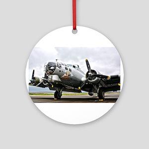B-17 Bomber Airplane Round Ornament