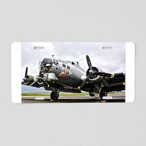 B-17 Bomber Airplane Aluminum License Plate