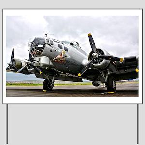 B-17 Bomber Airplane Yard Sign