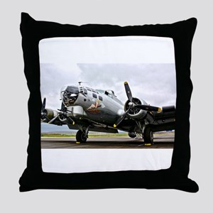 B-17 Bomber Airplane Throw Pillow