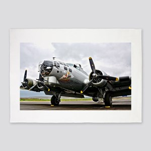 B-17 Bomber Airplane 5'x7'Area Rug