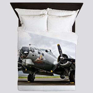 B-17 Bomber Airplane Queen Duvet