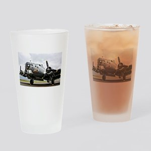 B-17 Bomber Airplane Drinking Glass