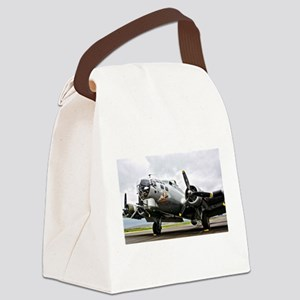 B-17 Bomber Airplane Canvas Lunch Bag