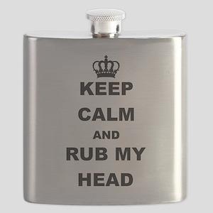 KEEP CALM AND RUB MY HEAD Flask