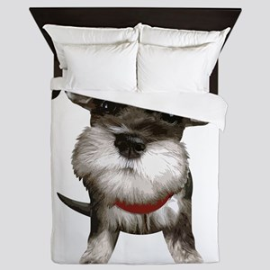 Mini Schnauzer001 Queen Duvet