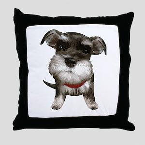 Mini Schnauzer001 Throw Pillow