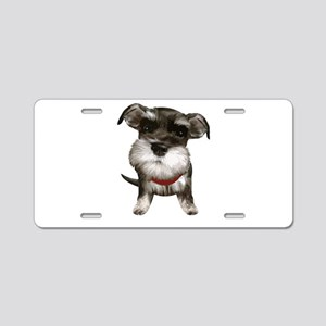 Mini Schnauzer001 Aluminum License Plate