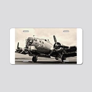 B-17 Bomber Aircraft Aluminum License Plate
