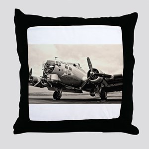 B-17 Bomber Aircraft Throw Pillow