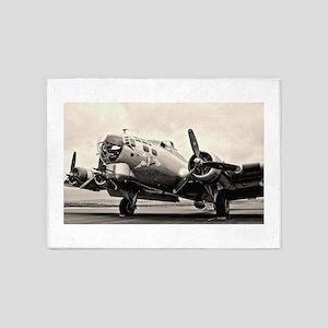 B-17 Bomber Aircraft 5'x7'Area Rug