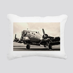 B-17 Bomber Aircraft Rectangular Canvas Pillow