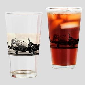 B-17 Bomber Aircraft Drinking Glass