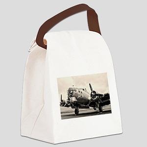 B-17 Bomber Aircraft Canvas Lunch Bag