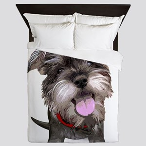 Mini Schnauzer002 Queen Duvet