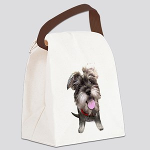 Mini Schnauzer002 Canvas Lunch Bag