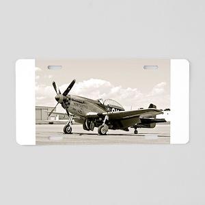 P-51 Airplane Aluminum License Plate
