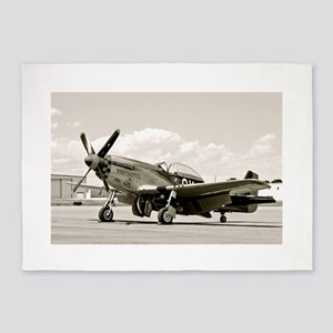 P-51 Airplane 5'x7'Area Rug