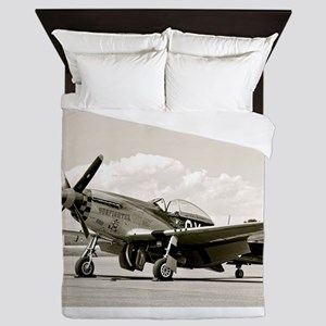 P-51 Airplane Queen Duvet