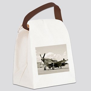 P-51 Airplane Canvas Lunch Bag