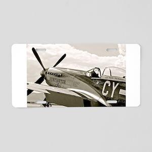 P-51 Fighter Plane Aluminum License Plate