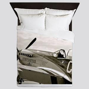 P-51 Fighter Plane Queen Duvet