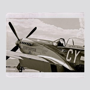 P-51 Fighter Plane Throw Blanket