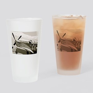 P-51 Fighter Plane Drinking Glass