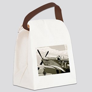 P-51 Fighter Plane Canvas Lunch Bag
