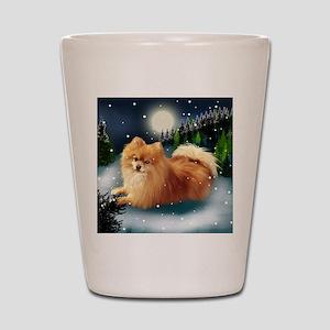 POMERANIAN DOG MOUNTAIN Shot Glass