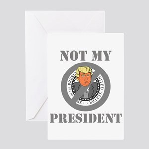Not My President Seal Greeting Cards