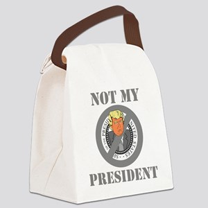 Not My President Seal Canvas Lunch Bag